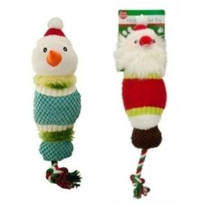 HOLIDAY CHARACTER KNOTTED DOG ROPE TOY